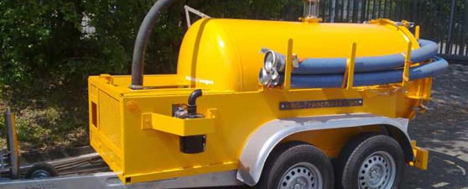 bentovac aspiratrice avec pompe à vide pour le pompage de boue
